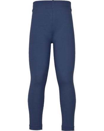 Maxomorra Leggings SOLID NAVY blau XAS2-41A GOTS