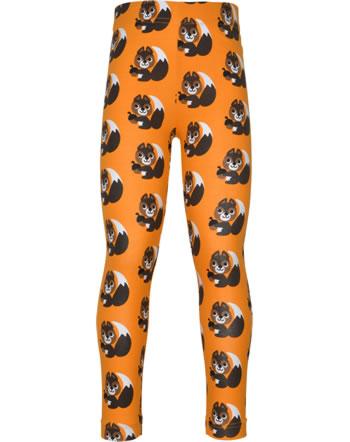 Maxomorra Leggings SQUIRREL orange XA24-12A GOTS