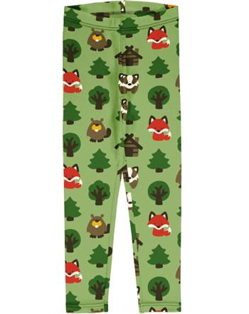 Maxomorra Leggings Sweat GREEN FOREST grün C3408-M458 GOTS