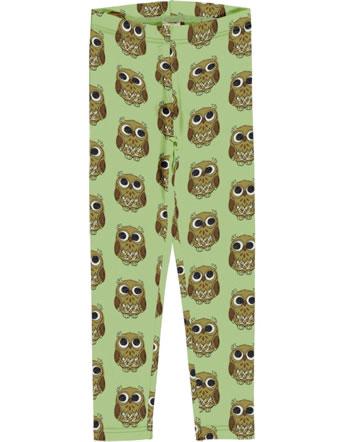 Maxomorra Leggings Sweat OWL grün C3416-M458 GOTS