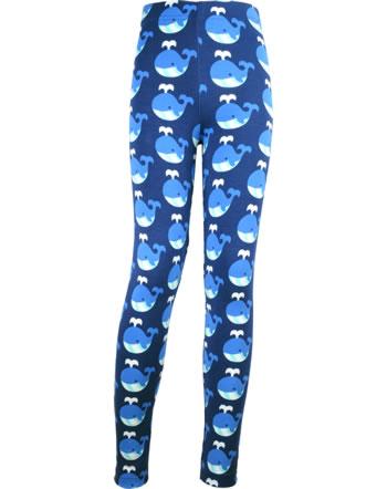 Maxomorra Leggings Sweat WHALE blau/rot C3413-M458 GOTS