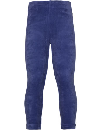 Maxomorra Leggings Velours NAVY blau XAS2-45A GOTS