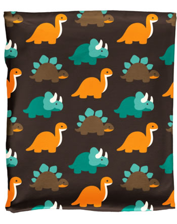 Maxomorra Loop Scarf Tube Velour DINOSAURS turquoise/brown C3427-M481 GOTS