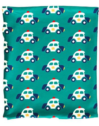Maxomorra Loop Scarf Tube Velour POLICE CAR green C3421-M481 GOTS