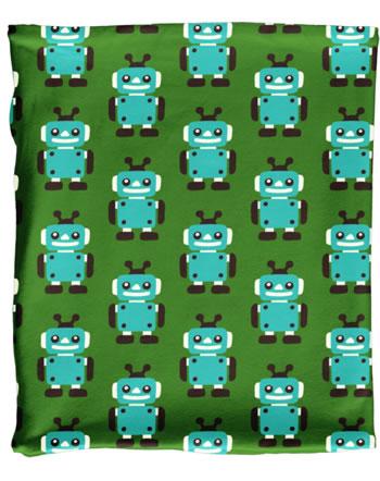 Maxomorra Loop Scarf Tube Velour ROBOT green C3422-M481 GOTS