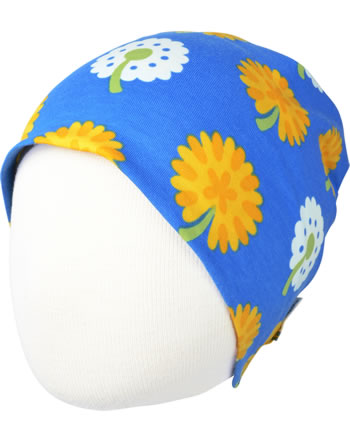 Maxomorra Hat DANDELION blue/yellow C3477-M544 GOTS