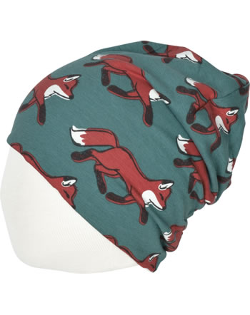 Maxomorra Mütze Beanie FOX grün/gelb C3435-M544 GOTS