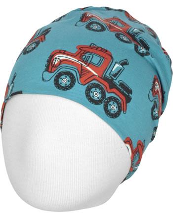 Maxomorra Hat Beanie HIGHWAY TRUCK blue C3415-M544 GOTS