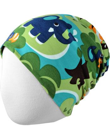 Maxomorra Hat Beanie JUNGLE green C3473-M544 GOTS