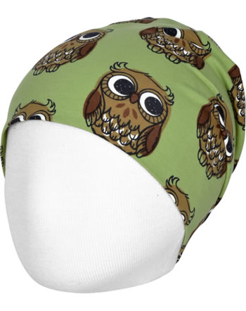 Maxomorra Mütze Beanie OWL grün C3416-M544 GOTS