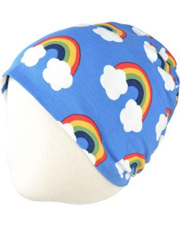 Maxomorra Hat Beanie RAINBOW blue C3470-M544 GOTS