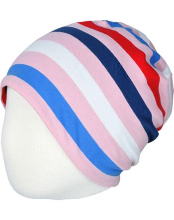 Maxomorra Hat STRIPE BLOSSOM pink C3493-M521 GOTS
