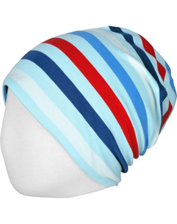 Maxomorra Hat STRIPE ICE blue C3492-M521 GOTS