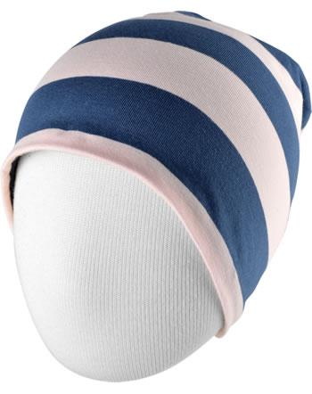 Maxomorra Hat STRIPE pale blush C3448-M521 GOTS