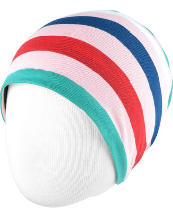 Maxomorra Mütze Beanie STRIPE stripe blossom C3438-M521 GOTS