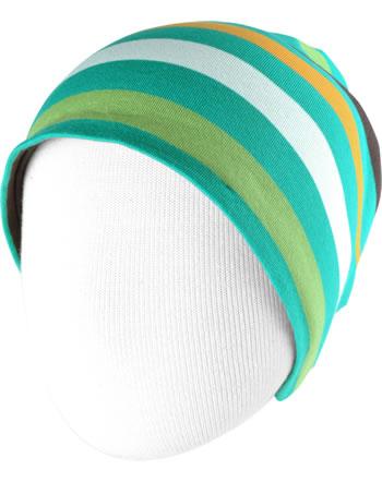 Maxomorra Hat STRIPE stripe lagoon C3439-M521 GOTS