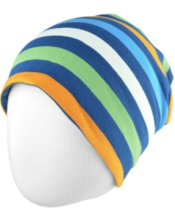 Maxomorra Mütze Beanie STRIPE stripe navy C3437-M521 GOTS