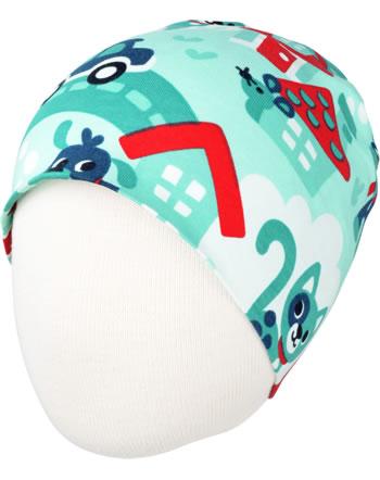 Maxomorra Hat TOWN turquoise C3479-M544 GOTS
