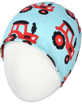 Maxomorra Hat Beanie TRACTOR blue C3468-M544 GOTS