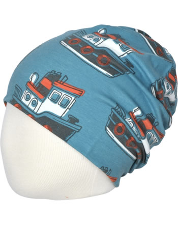 Maxomorra Hat Beanie TUGBOAT blue C3431-M544 GOTS