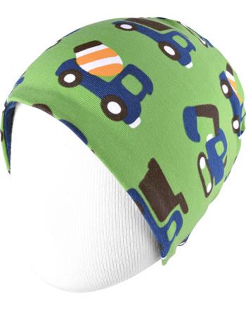 Maxomorra Hat Velour CONSTRUCTION green C3411-M483 GOTS