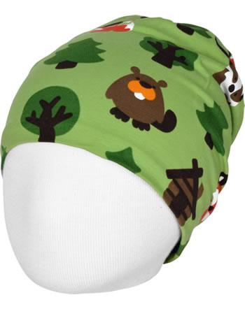 Maxomorra Mütze m. Velours-Futter GREEN FOREST grün C3408-M483 GOTS