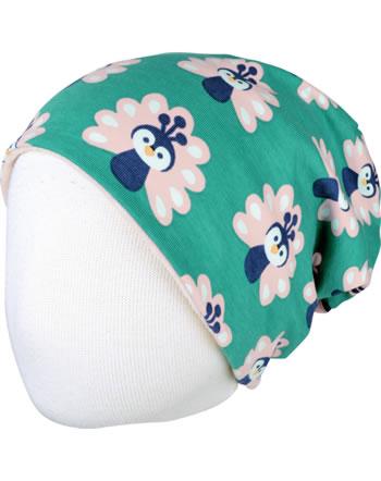 Maxomorra Hat Velour PEACOCK green/pink C3446-M483 GOTS