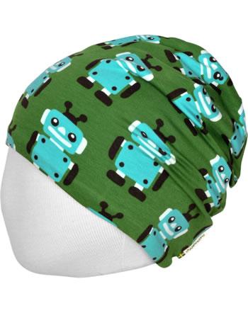 Maxomorra Hat Velour ROBOT green C3422-M483 GOTS