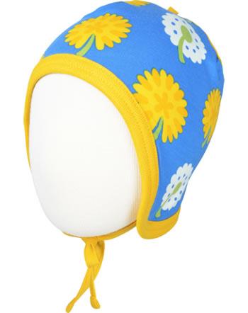 Maxomorra Hat to tie DANDELION blue/yellow C3477-M391 GOTS