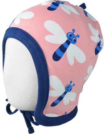 Maxomorra Hat to tie DRAGONFLY pink C3472-M391 GOTS