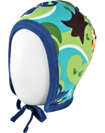 Maxomorra Hat to tie JUNGLE green C3473-M391 GOTS
