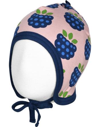 Maxomorra Mütze zum Binden m. Velours-Futter BLACKBERRY rosa C3410-M484 GOTS