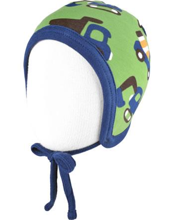 Maxomorra Hat Helmet Velour CONSTRUCTION green C3411-M484 GOTS