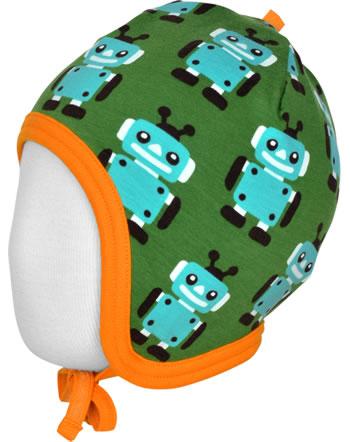 Maxomorra Hat Helmet Velour ROBOT green C3422-M484 GOTS