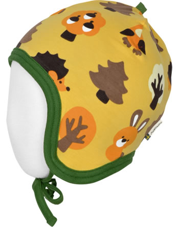 Maxomorra Hat Helmet Velour YELLOW FOREST gelb C3423-M484 GOTS