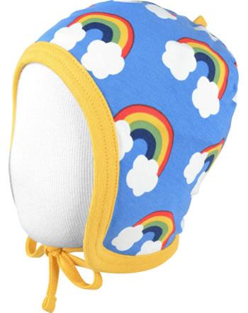 Maxomorra Hat to tie RAINBOW blue C3470-M391 GOTS
