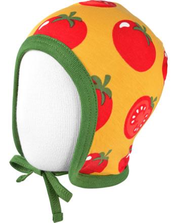 Maxomorra Hat to tie TOMATO yellow C3471-M391 GOTS