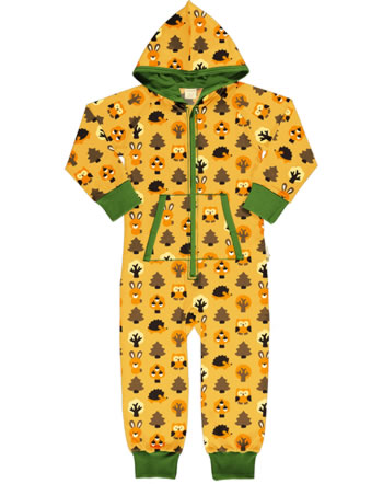 Maxomorra Overall mit Kapuze YELLOW FOREST gelb C3423-M549 GOTS