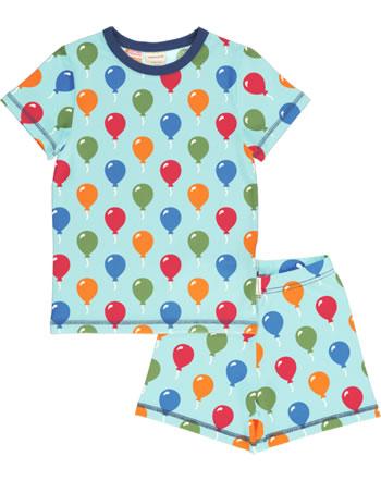 Maxomorra Pyjama kurz BALLOON blau C3483-M439 GOTS