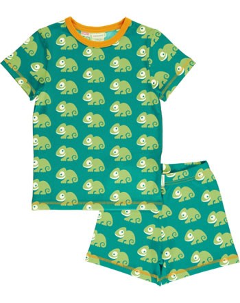 Maxomorra Pyjama kurz CHAMELEON grün C3481-M439 GOTS