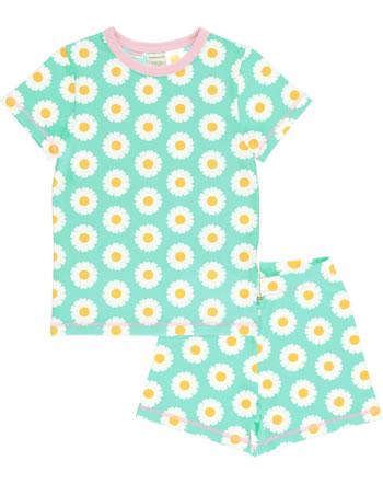 Maxomorra Pyjama kurz DAISY blau C3490-M439 GOTS