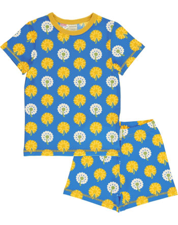 Maxomorra Pyjama kurz DANDELION blau/gelb C3477-M439 GOTS