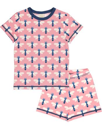 Maxomorra Pyjama kurz DRAGONFLY rosa C3472-M439 GOTS