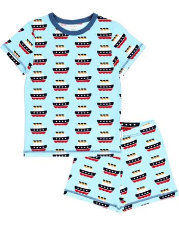 Maxomorra Pyjama kurz FERRY blau C3486-M439 GOTS