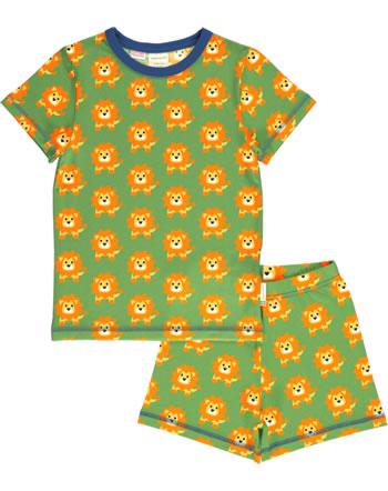 Maxomorra Pyjama kurz LION grün C3487-M439 GOTS