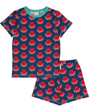 Maxomorra Pyjama kurz OCTOPUS blau/rot  C3476-M439 GOTS