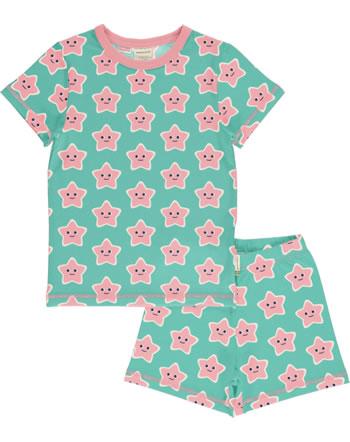 Maxomorra Pyjama kurz STARFISH türkis/rosa C3478-M439 GOTS