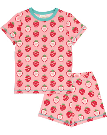 Maxomorra Pyjama kurz STRAWBERRY rosa C3484-M439 GOTS