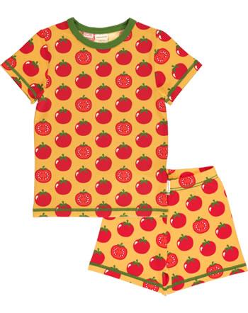 Maxomorra Pyjama kurz TOMATO gelb C3471-M439 GOTS