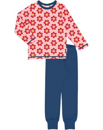 Maxomorra Pyjama lang ANEMONE rosa/blau C3430-M437 GOTS
